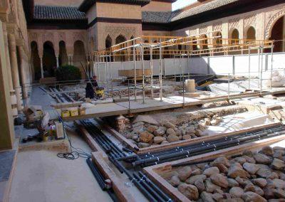 Recostruccion Patio de los Leones, Alhambra